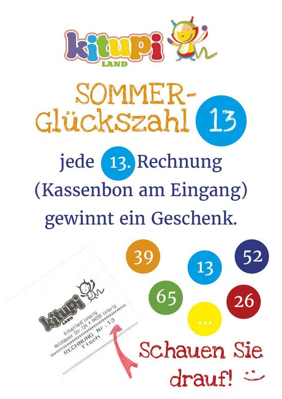 Kitupiland Sommeraktion Sommer Glücks Zahl